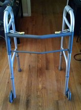 LUMEX - Dual Release Folding Walker with Wheels in Lawton, Oklahoma