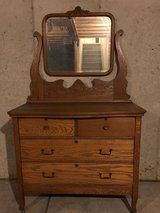 Antique Dresser w/Mirror in Naperville, Illinois