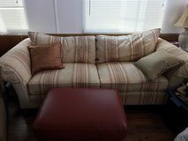 ethan allen couch, folding table, folding chair, tommy bahama side chair in Temecula, California