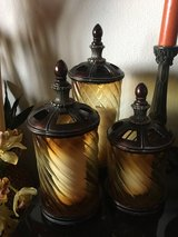 Set of glass candle holders in Camp Pendleton, California
