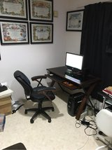 OFFICE DESK AND LEATHER CHAIR in Okinawa, Japan