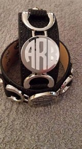 Monogrammed Leather bracelet in Byron, Georgia