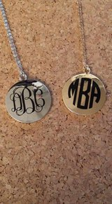Monogrammed necklaces in Byron, Georgia