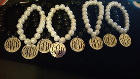 Monogrammed beaded braclets in Byron, Georgia