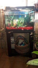 Fish tank and stand with filters in Alamogordo, New Mexico