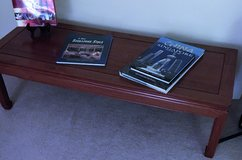 Coffee table and end tables: Hand made Singapore Light Rosewood in Naperville, Illinois