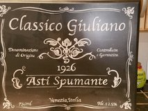 Black & White Italian Wooden Plaque in Naperville, Illinois