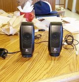 2 Logitech Speakers  plugs into cell phones, tablets, ect in Alamogordo, New Mexico