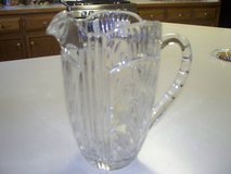 Crystal pitcher/  heavy gorgeous/etched/scalloped/beveled  at least 50 years old in Morris, Illinois