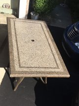 Marble Top Patio Table and 6 High Back chairs in Glendale Heights, Illinois