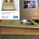 Antique Holy Bible catholic heirloom edition in Fort Benning, Georgia