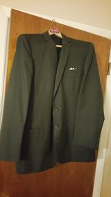 Vintage Two Button Black Jacket, Alexandre, made in England in Warner Robins, Georgia