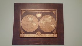 World Map Canvas Picture in Fort Bragg, North Carolina
