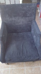 "Black Suede Accent Chair 27""×41"" in Kingwood, Texas"