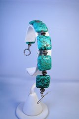 Sterling Silver Cushion Cut Turquoise Bracelet in Camp Lejeune, North Carolina