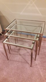 Set of 3 Vintage French Nesting Tables in Waukegan, Illinois
