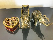 Elephant & heart jewelry boxes in Okinawa, Japan