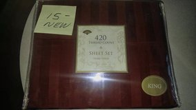 KING SIZE Red Sheet Set NEW in 29 Palms, California