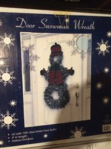 Indoor/Outdoor Door Snowman Wreath in Brookfield, Wisconsin