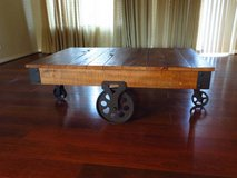 47 in. W Natural Reclaimed Industrial Cart Table in San Diego, California