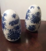 Set of two Asian porcelain eggs in Hinesville, Georgia
