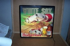 BUDWEISER CHICAGO WHITE SOX SLIDE IN MOTION BAR  SIGN in Bartlett, Illinois