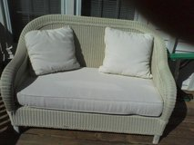 PB All-Weather Wicker settee w/ Cushions in Camp Lejeune, North Carolina