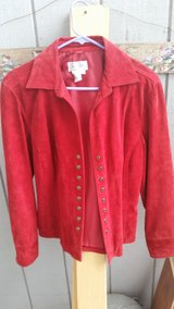 Red size medium Womans Leather jacket in Fairfield, California