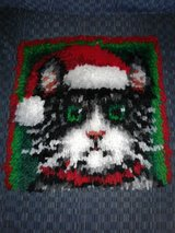 Christmas Cat Latch Hook in Beaufort, South Carolina