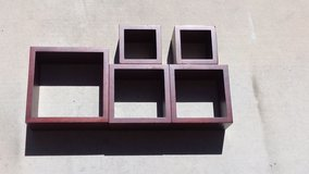 SET OF 5 Wall Mountable Square Cube Shelf Hanging Decor Shelves in Lake Elsinore, California