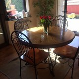 beautiful rustic round table with 4 chairs in Ramstein, Germany