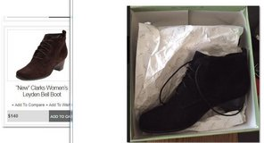 Clarks Woman's Black Suede Bell Boot in Chicago, Illinois