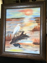 """Forever Sunset"" 16"" x 20"" Acrylic on canvas / Framed Original Signed in Elgin, Illinois"