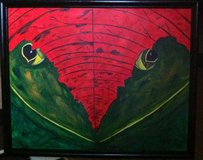 """Louisiana Frog"" 16"" x 20 Acrylic on Canvas / Framed from Photo signed Donation only ""Share and ... in Elgin, Illinois"