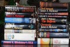 Collection of vintage James Michener Books in Bartlett, Illinois