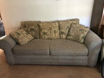 Brown suede couch in 29 Palms, California
