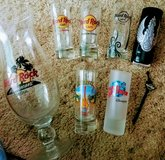 Hard Rock Cafe & 1 Planet Hollywood Disney collectible new/lk new bar glasses - various cities (... in Lawton, Oklahoma
