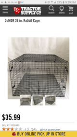 ADVANTEK brand RABBIT CAGES (2), TRAY & BRACKETS in Yucca Valley, California