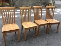 Four Beautiful Wooden Chairs in Okinawa, Japan