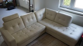 Italian leather couch from naples in Ramstein, Germany