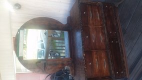 Real wood 7 Drawer dresser with mirror in Fort Polk, Louisiana
