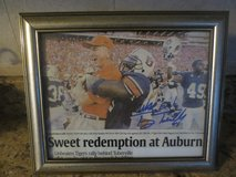 Autographed Auburn Football Picture in Fort Rucker, Alabama
