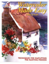 Watercolor made easy book. By Janet Walsh in Byron, Georgia