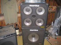 HARTKE  BASS  AMP  350 WATT  AND  SPEAKER  STACK  SETUP in Bartlett, Illinois