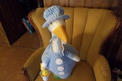 Easter Boy Crochet Geese Outfit Garden Statue Decor in Belleville, Illinois