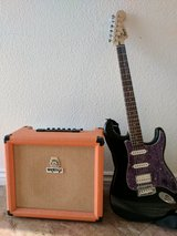 Squier Strat with Orange Crush 30 Watt Amp in Fort Irwin, California