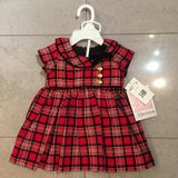 NWT Red plaid dress 3-6M in Ramstein, Germany