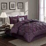 NEW Purple Plum luxurious bedding collection 7 piece set, LOVELY!! King size! $200 value in Bolingbrook, Illinois
