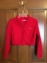 Girls red sweater Clayeux size 4 in Naperville, Illinois
