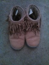 Moccasin boots in Fort Irwin, California